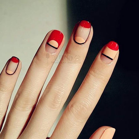 Nail Modern Red Manicure