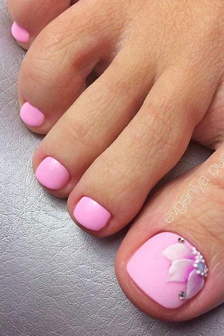 Nail Toe Pink Nails