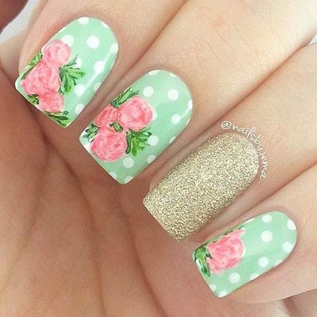 Nail Nails Spring Flower