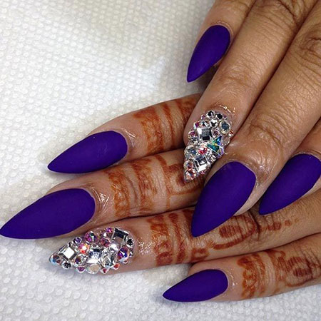 Nails Nail Purple Stiletto