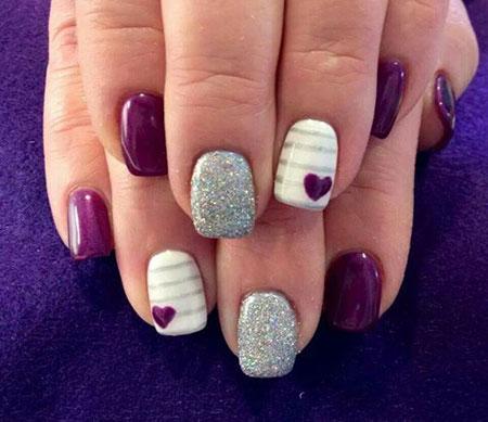Nail Nails Purple Design
