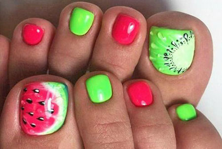 Nail Nails Neon Summer