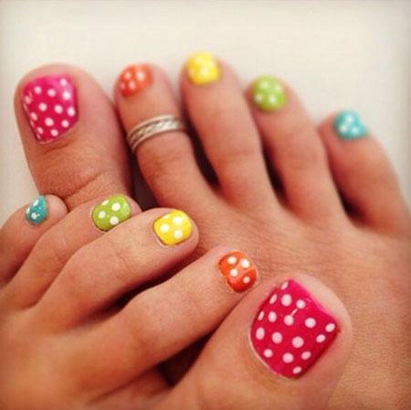 Nail Toe Dot Toes
