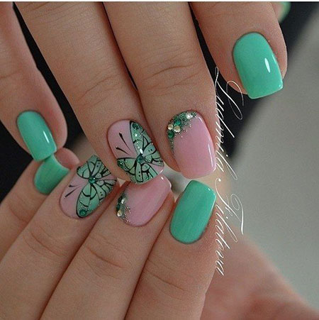 Nails Nail Green Soft