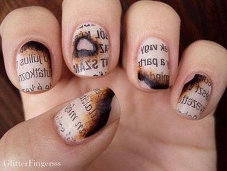 Nail Nails Newspaper Red
