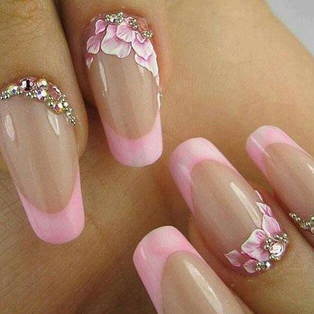 3D Polish Pink Nail Art, Nail Nails 3D Polish