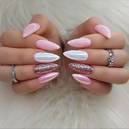 Almond Nails Pink, Nail Nails Acrylic Stilettos