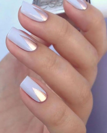 Simple Mirror Nails, Nail Nails Manicure But
