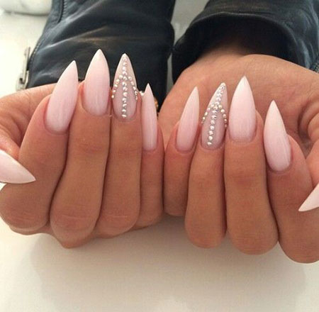 Pointed Acrylic Nails, Nail Nails Stiletto Check