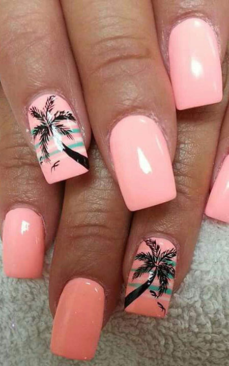 Beach Nailart Design, Nail Summer Nails Design