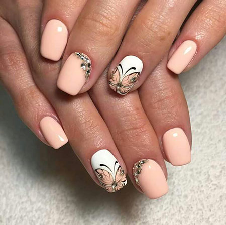 Summer Nail Art 2017, Nail Manicure Peach Design