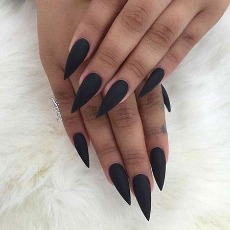 Nails Matte Black Nail