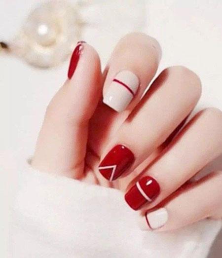 Nail Red Nails Simple