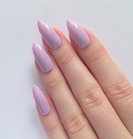 Nails Pointy Purple Stiletto