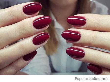 Burgundy Gel Nails, Gel Nail Nails Red
