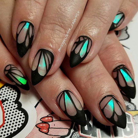 Butterfly Design Nailart, Nail Manicure Nails Matte