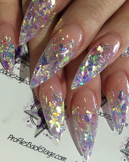 Chunky Glitter Acrylic Nail Art, Acrylic Nail Nails Photo