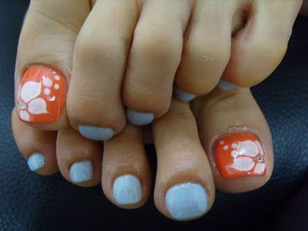 Summer Nail Colors for Toes, Nail Toe Art Image