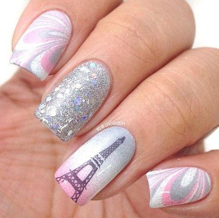 Eiffel Tower Nail Art, Nail Ideas Polish Nails