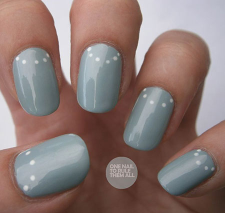 Basic Nail Design, Manicure Moon Polish Nail