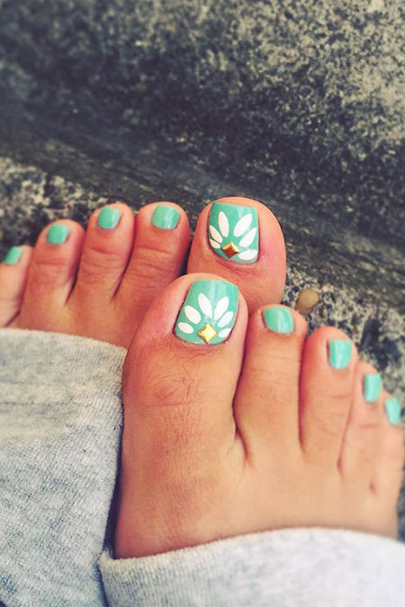 Blue Beach Toe Nail Designs, Toe Nail Toes Beach
