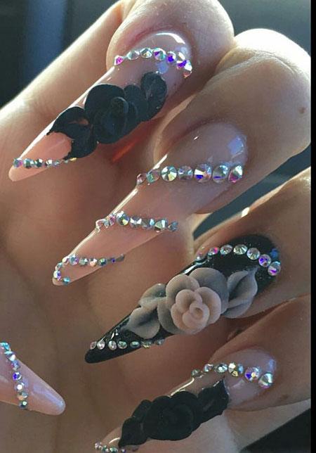 Very Long Stiletto Nail Design, Nails Nail Stiletto Pink