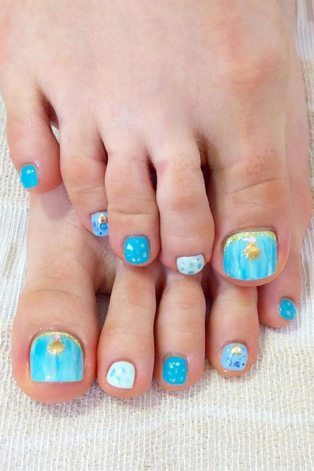 Pretty Beach Toes, Nail Toe Art Beach