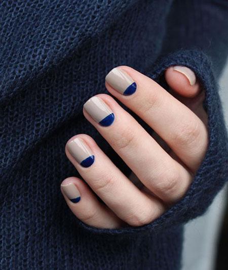 Half Moon Design Nails, Nails Moon Manicure Nail