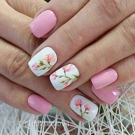 Nail Design with Flowers, Nail Nails Flower Manicure