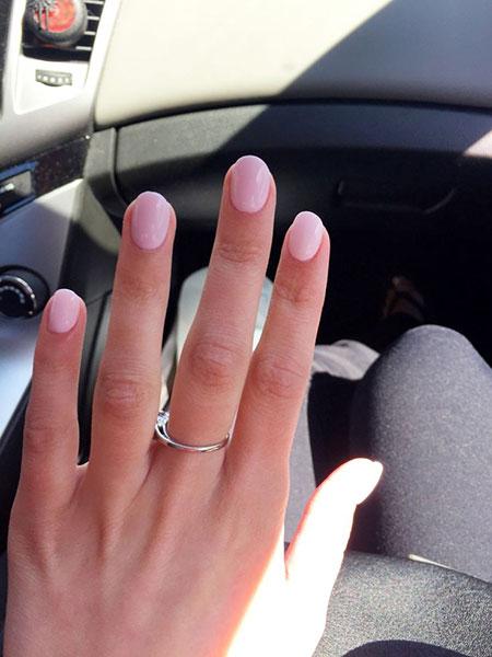 Short Light Pink Acrylic Nails, Acrylic Nail Pink Nails