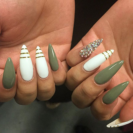 Great Nail Color on Dark Skin, Nail Nails Stiletto Almond