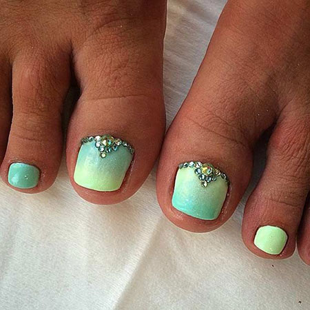 Nail Toe Ombre Summer