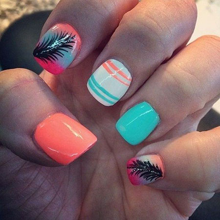 Nails Nail Ideas Feather