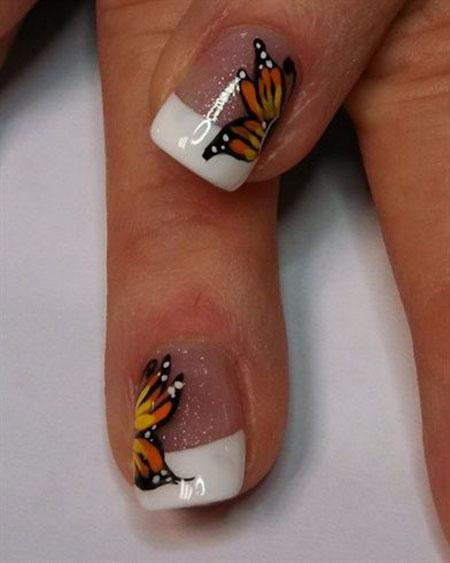 Nail Art Halloween Butterfly