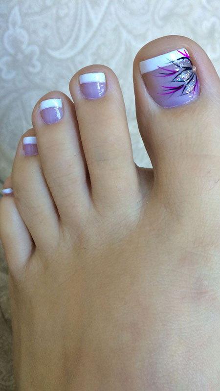 Toe Nail Summer Flower