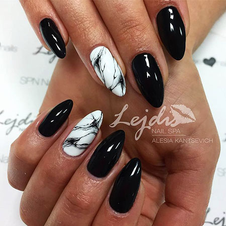40 Black Nails Nail Art Designs 2017
