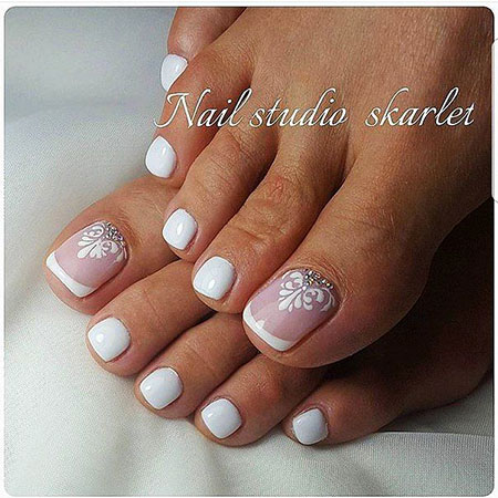Bridal Toe Nails, Manicure Pedicure Toe Ideas
