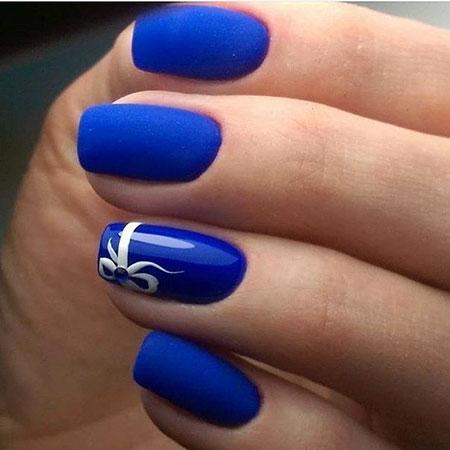 Bridesmaid Nail Idea, Blue Manicure Polish Ideas