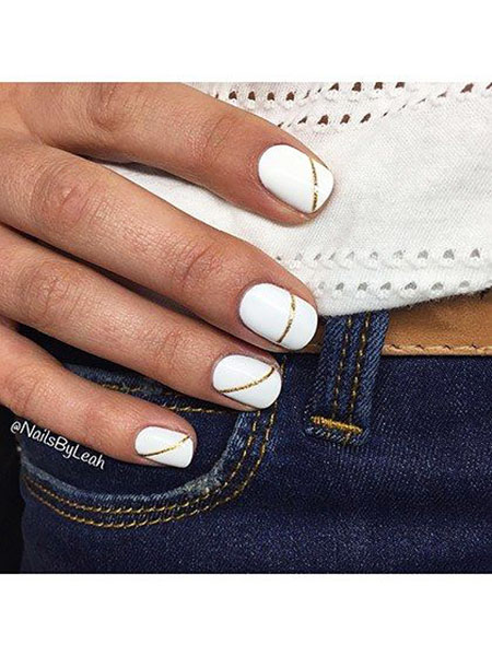 Modern Nails, Summer White Manicure But