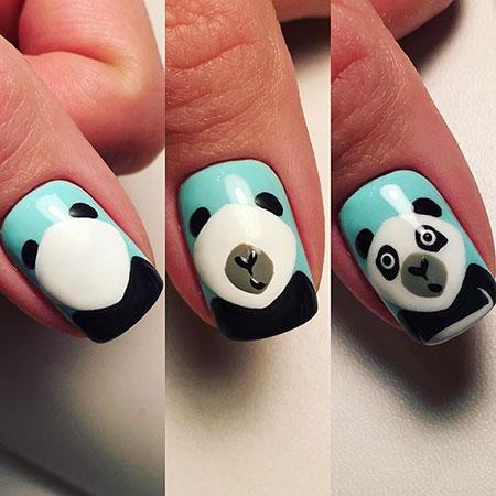 Halloween Panda Manicure Pikachu