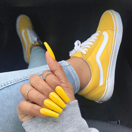 Nike Yellow Shoes But