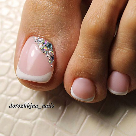 Toe Manicure Bridal Rhinestone