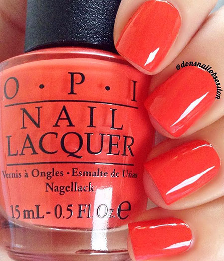 Polish Opi Red Coral