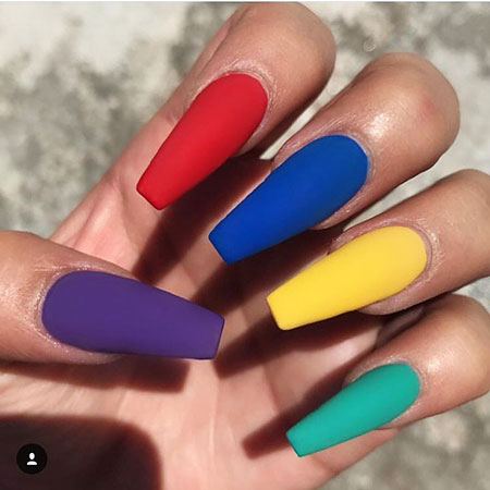 Long Acrylic Colors Different