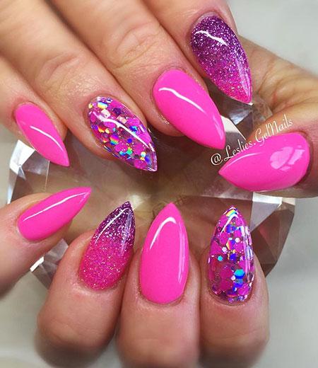 Pink Gel Love Glitter