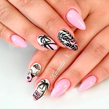 Tropical Manicure Summer Colorful