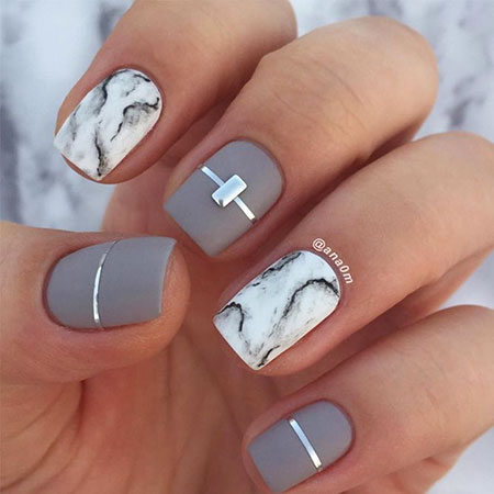 Cute Marble Nail Designs, Manicure Year Best Great