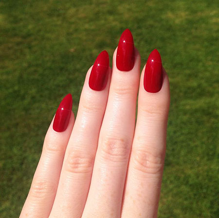 Stiletto Red Nails, Red Acrylic Stiletto Acrylics