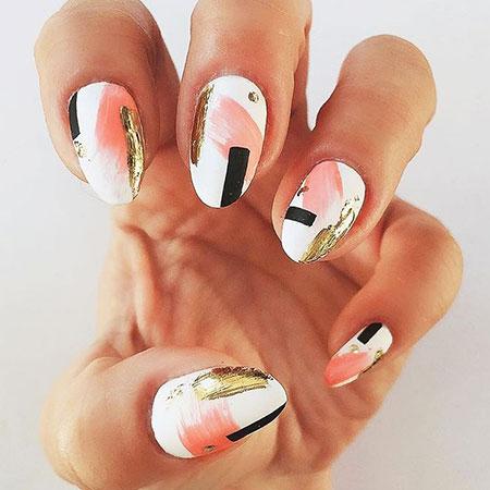 Geometric Modern Nails, Manicure Beautiful Best Modern