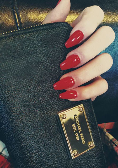 Red Coffin Manicure Classic